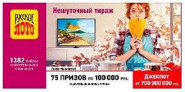 Проверить билет 1382 тиража Русского лото